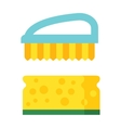 cleaning brush icon flat modern design vector image vector image