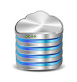 Cloud computing database vector image vector image