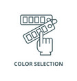 color selection line icon linear concept vector image