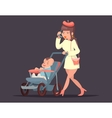 Cute mother with child Isolated vector image