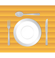 Dining table background vector image