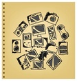 Doodle gadget icon set vector image vector image