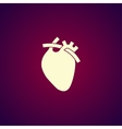 flat heart icon Eps 10 vector image vector image