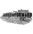 forward word cloud concept vector image vector image
