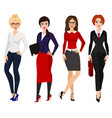four elegant business women vector image vector image