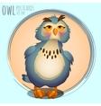 Funny blue owl cartoon series vector image