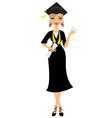 Graduate girl vector image vector image