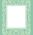 green frame with vintage ornament vector image vector image