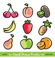 Hand drawn fruits vector | Price: 1 Credit (USD $1)