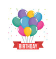 happy birthday celebration card with balloons air vector image vector image