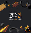 happy new 2021 year and merry christmas banner 3d vector image vector image