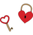 Heart key vector image
