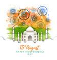 india independence day with firework vector image