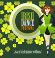 irish dance festival template in cartoon style vector image vector image