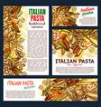 italian pasta and lasagna vector image vector image