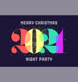 merry christmas 2021 greeting card vector image