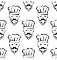 Mustached chef seamless pattern vector image vector image