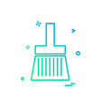 paint brush icon design vector image
