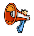 painted voice megaphone vector image vector image