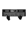 playing on an electronic keyboard instrument vector image