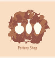 pottery icon set vector image vector image