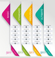 price list widget with 4 payment plans for online vector image vector image