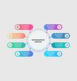 process chart 6 steps circular workflow diagram vector image vector image