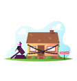 property confiscation people buying and selling vector image vector image