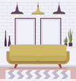 retro interior with two big frames for copy space vector image vector image