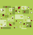 seamless baby pattern with beetles vector image