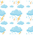 seamless pattern tile cartoon with clouds and vector image vector image
