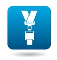 Seat belt icon in simple style vector image vector image