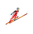 ski jump winter sports clipart vector image vector image