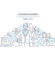 successful business - modern line design style web vector image