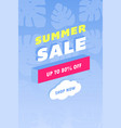 summer sale design layout for banner vector image vector image