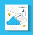 template infographic with cloud figure vector image