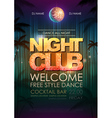Typography Disco background Night Club poster vector image vector image