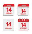 Valentine calendar icon vector image vector image