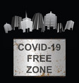virus free zone sign city vector image vector image