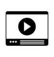 website video player vector image vector image