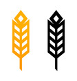 wheat ears icons - of golden vector image vector image