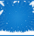 winter poster with snowflake vector image vector image