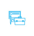 work accessories linear icon concept work vector image vector image