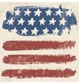 American flag vintage textured background vector image