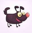 cute cartoonblack dog vector image