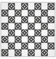 Chessboard ornate background vector image