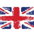 british flag grunge white vector image