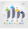 3d business infographics options template vector image vector image