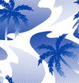 Abstract palm tree reflection on the water vector image vector image
