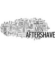 aftershave for men text word cloud concept vector image vector image